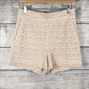 Express high waisted lace crochet shorts size 2